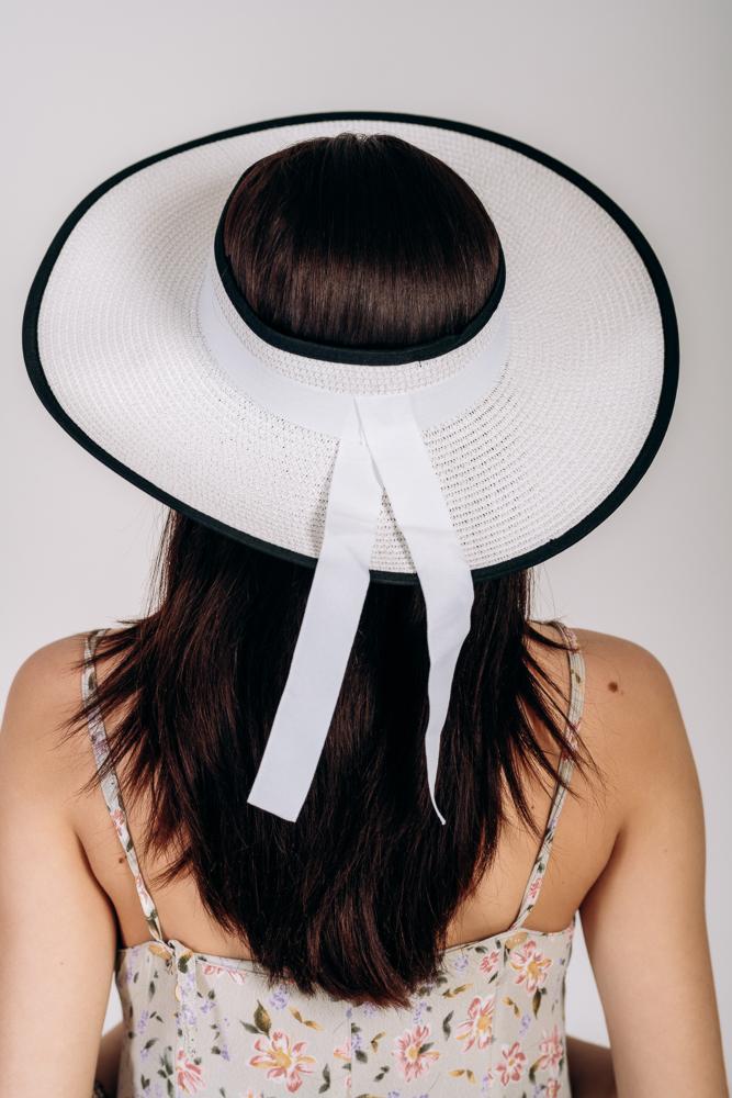 Шляпка широкополая без тульи оптом Артикул SHL 2015 белая 1