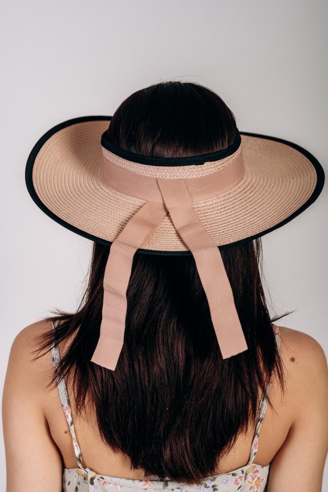 Шляпка широкополая без тульи оптом Артикул SHL 2015 пудровая 1