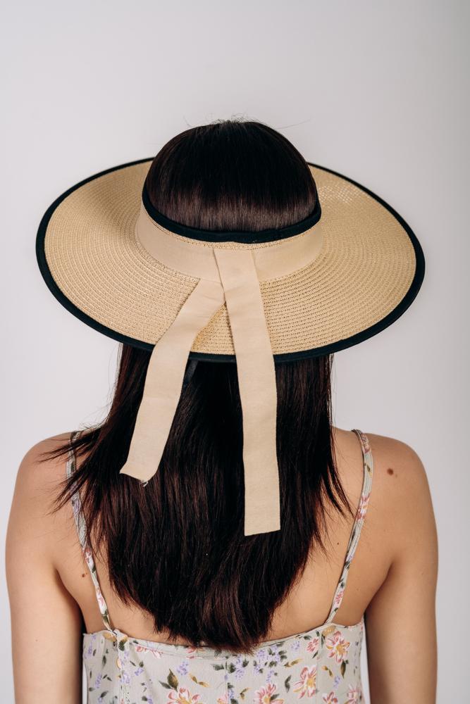 Шляпка широкополая без тульи оптом Артикул SHL 2015 песочная 1